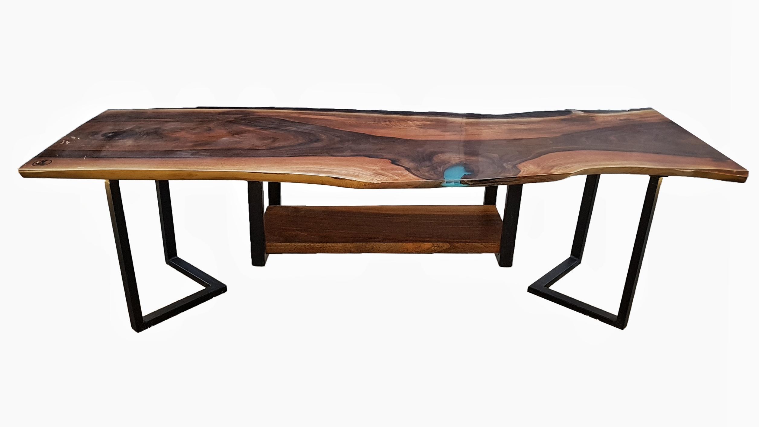 تولید انواع میز های تلویزیون ترکیبی چوب و رزین اپوکسی
