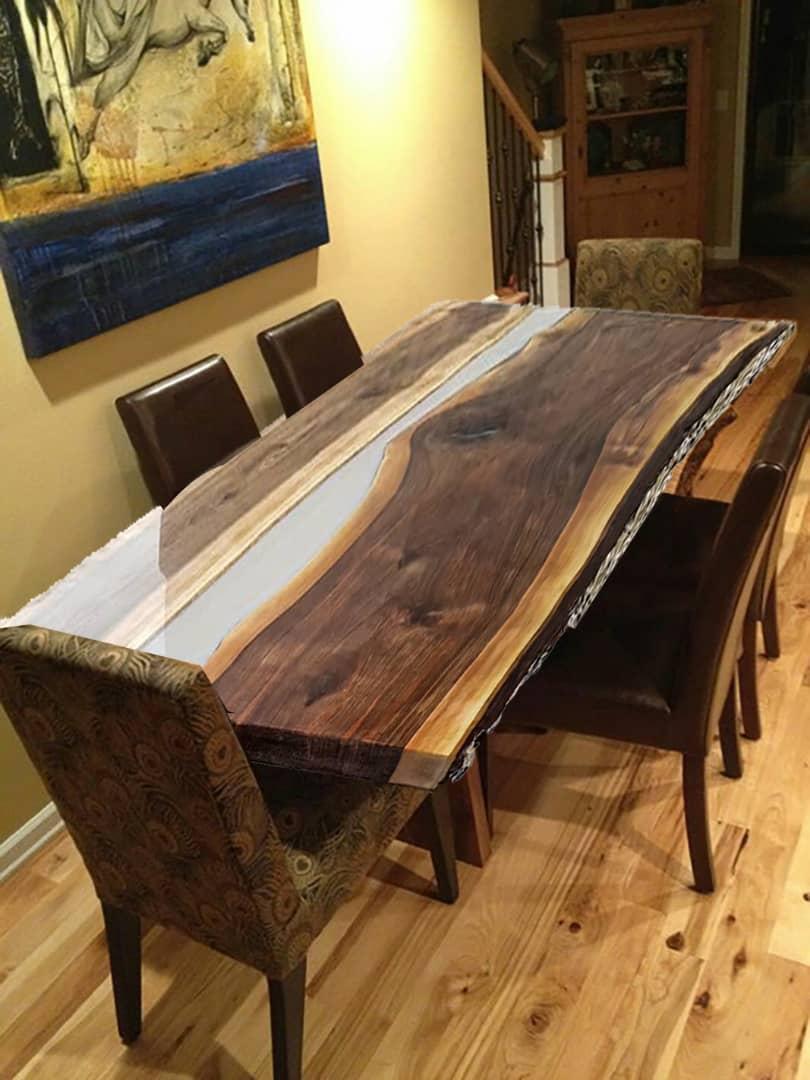 ولید انواع میز های ترکیبی چوب و رزین اپوکسی