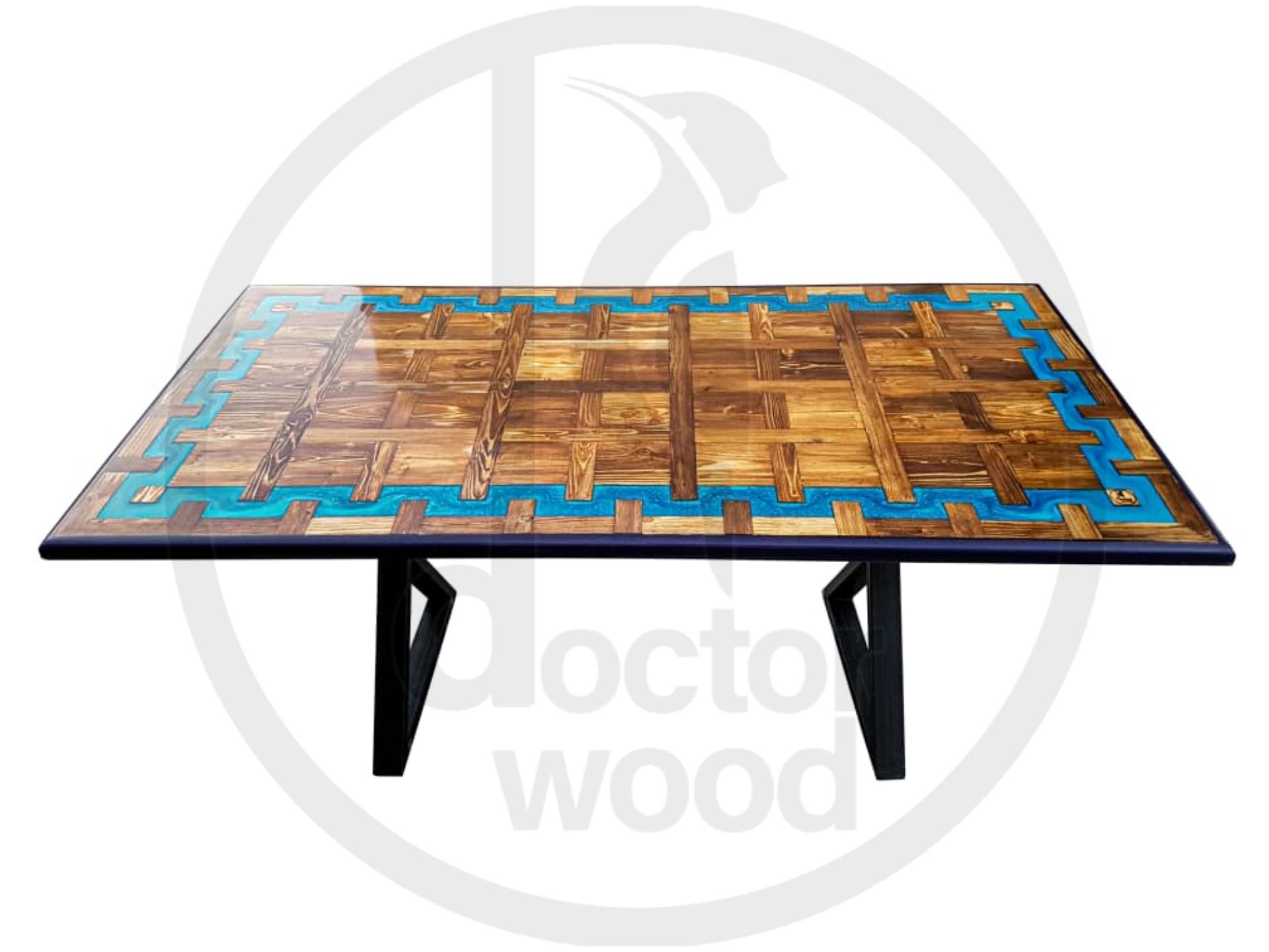 تولید انواع میز های ترکیبی چوب و رزین اپوکسی